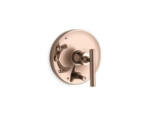 KOHLER Purist® Single Handle Bathtub & Shower Faucet in Vibrant® Rose Gold (Trim Only) KT14501-4-RGD