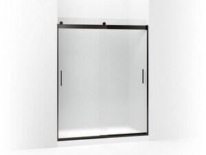 KOHLER Levity® 74 x 59-5/8 in. Frameless Sliding Shower Door with Handle in Anodized Dark Bronze K706009-D3-ABZ