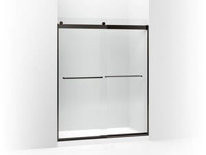 Kohler Levity® 59-5/8 x 1/4 in. Frameless Crystal Clear Tub and Shower Door in Anodized Dark Bronze K706015-L-ABZ