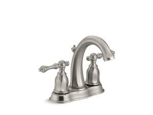 KOHLER Kelston® Two Handle Centerset Bathroom Sink Faucet in Vibrant Brushed Nickel K13490-4-BN