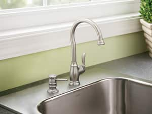 Moen Anabelle® 2.2 gpm Single Lever Handle Bar Faucet in Spot Resist Stainless Steel M87682SRS