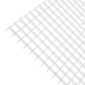 Plaskolite 2 in x 4 ft Egg Crate White Styrene Louver Lens 5 Pack P119923A