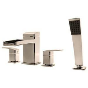 Pfister Kenzo™ Two Handle Roman Tub Faucet in Brushed Nickel Trim Only PLG64DFK