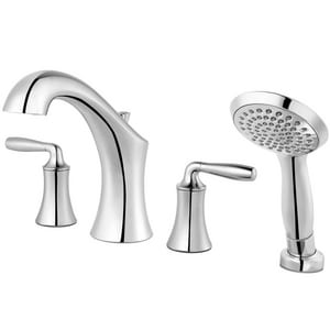 Pfister Iyla™ Two Handle Roman Tub Faucet in Polished Chrome (Trim Only) PLG64TRC