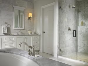 Pfister Marielle™ 1.8 gpm Shower Trim Only with Single Lever Handle in Brushed Nickel PLG897MB
