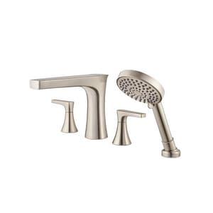 Pfister Kelen™ Two Handle Roman Tub Faucet in Brushed Nickel (Trim Only) PLG64MFK
