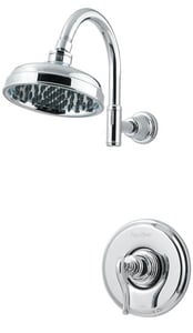 Pfister Ashfield™ 1.8 gpm 1-Function Wall Mount Shower Trim Only with Single Lever Handle in Polished Chrome PLG897YPC