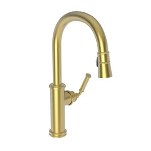 Newport Brass Taft Single Handle Pull Down Kitchen Faucet in Oil Rubbed Bronze N2940-5103/10