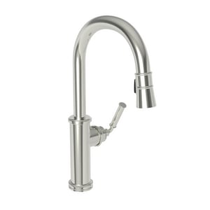 Newport Brass Taft Single Handle Pull Down Kitchen Faucet in Polished Nickel - Natural N2940-5103/15