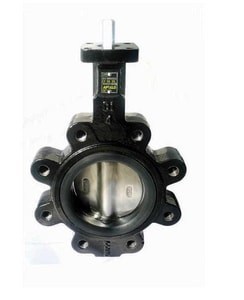 Apollo Conbraco LD 141 Series 2-1/2 in. Ductile Iron Lug Butterfly Valve with EPDM Seat ALD14125SE11A