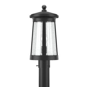 Park Harbor® Woodberry 17-1/8 in. 100W 1-Light Medium E-26 Post Lantern in Black PHEL3103BLK