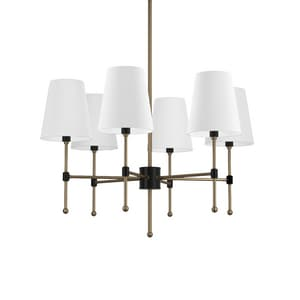 Park Harbor® Beatty 60W 31-1/2 in. 9-Light Candelabra E-12 Chandlier in Black/Antique Brass PHHL6089BKAB