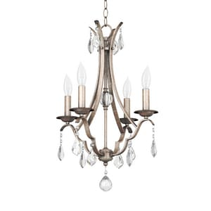 Park Harbor® 60W 24 in. 4-Light Candelabra E-12 Chandlier in Gilded Silver PHHL6324GS