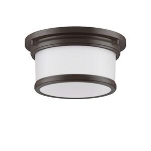 Park Harbor® Summerlake 5-3/8 x 9-1/2 in. 100W 1-Light Medium E-26 Flush Mount Ceiling Fixture in Oil Rubbed Bronze PHFL4031ORB