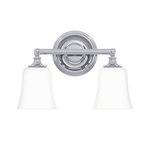 Park Harbor® Scarborough 10 x 14 in. 100W 2-Light Medium E-26 Vanity Fixture in Polished Chrome PHVL2212