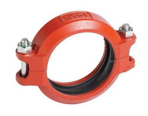 Victaulic FireLock™ Style 75 4 in. Grooved Straight Carbon Steel and Stainless Steel Flexible Coupling VL040075PL0-NR