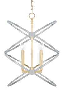 Capital Lighting Fire & Ice 240W 4-Light Candelabra E-12 Incandescent Foyer Lighting in Fire and Ice C520841FI