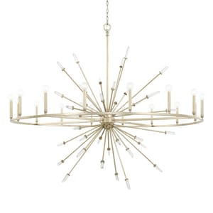 Capital Lighting Fixture Adira 60W 16-Light Candelabra E-12 Incandescent Chandelier in Winter Gold C428203WG