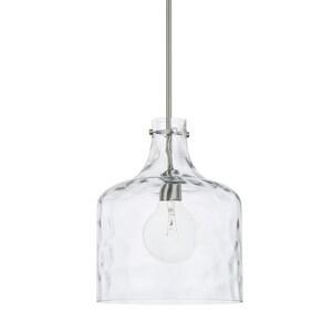 Capital Lighting Fixture HomePlace 100W 1-Light Medium E-26 Incandescent Pendant in Brushed Nickel C325717BN