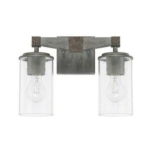 Capital Lighting Fixture Zac 100W 2-Light Medium E-26 Incandescent Vanity Fixture in Urban Grey C125921UG435