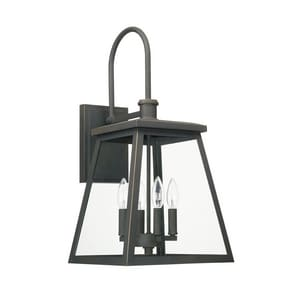 Capital Lighting Belmore 60W 4-Light Candelabra E-12 Incandescent Outdoor Wall Sconce in Oil Rubbed Bronze C926841OZ