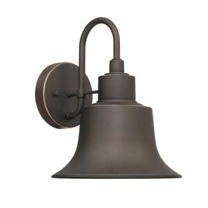 Capital Lighting Fixture Brock 100W 1-Light Medium E-26 Incandescent Outdoor Wall Lantern in Oiled Bronze C926311OZ