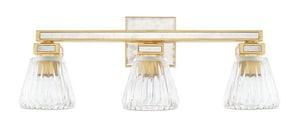 Capital Lighting Fixture Abella 100W 3-Light Medium E-26 Incandescent Vanity Fixture in Capital Gold C123031CG436
