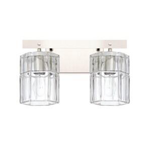 Capital Lighting Fixture Sloane 100W 2-Light Medium E-26 Incandescent Vanity Fixture in Polished Nickel C127621PN458
