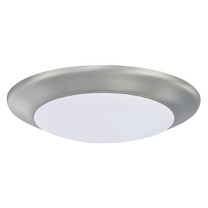 Capital Lighting Fixture HomePlace 10 in. 15W 1-Light Integrated LED Flush Mount Ceiling Fixture in Brushed Nickel C223612BNLD30