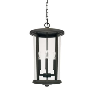 Capital Lighting Fixture Howell 60W 4-Light Candelabra E-12 Incandescent Outdoor Hanging Pendant C926742