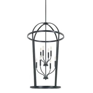 Capital Lighting Fixture Greyson 60W 8-Light Candelabra E-12 Incandescent Foyer Lighting in Matte Black C528581MB