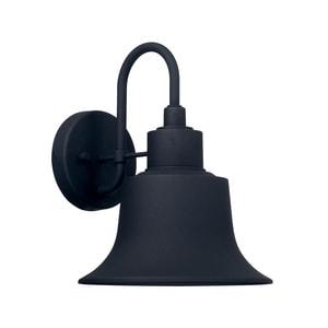 Capital Lighting Fixture Brock 100W 1-Light Medium E-26 Incandescent Outdoor Wall Lantern in Black C926311BK