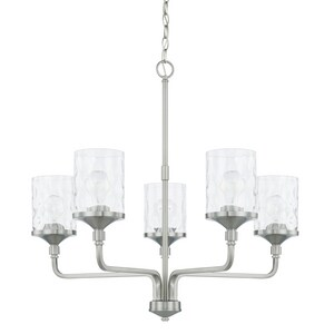 Capital Lighting Fixture Colton 100W 5-Light Medium E-26 Incandescent Chandelier in Brushed Nickel C428851BN451