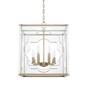 Capital Lighting Fixture 60W 8-Light Candelabra E-12 Incandescent Foyer Lighting in Aged Brass C525681AD