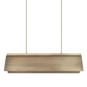 Capital Lighting Fixture Wells 60W 8-Light Candelabra E-12 Incandescent Island Light in Aged Brass C827781AD