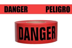 Presco 1000 ft. x 3 in. 2 mil Danger Peligro Barrier Tape PB3102R174737