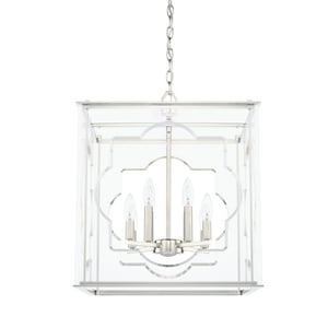 Capital Lighting Fixture 60W 8-Light Candelabra E-12 Incandescent Foyer in Polished Nickel C525681PN