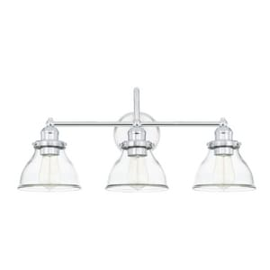 Capital Lighting Baxter 100W 3-Light Medium E-26 Incandescent 120V Vanity Fixture in Polished Chrome C8303CH461