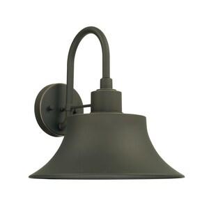 Capital Lighting Fixture Brock 100W 1-Light Medium E-26 Incandescent Outdoor Wall Lantern in Oiled Bronze C926312OZ