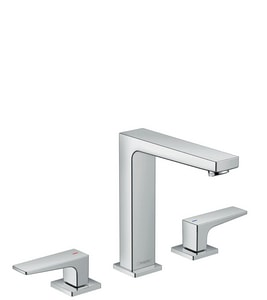 Hansgrohe Metropol 160 1.2 gpm 3-Hole Deck Mount Lavatory Faucet with Double Lever Handle H32517
