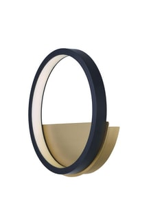 ET2 Hoopla 11W 1-Light 770 Lumen LED Wall Sconce in Black with Gold EE24320BKGLD