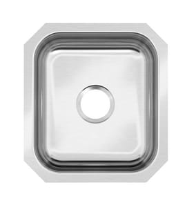 PROFLO® Plomosa 16-1/2 x 18-1/4 in. Stainless Steel Single Bowl Undermount Kitchen Sink PFUC109