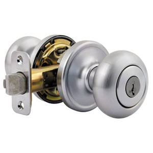 Kwikset Hancock® Keyed Entry Door Knob in Brushed Chrome K740H26DSMT6ALRCSK