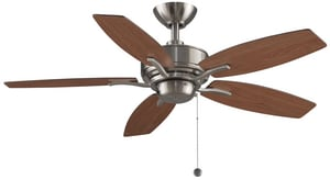 Fanimation Aire Deluxe™ 53W 5-Blade Ceiling Fan with 44 in. Blade Span and 1-Light in Brushed Nickel FFP6244BN