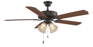 Fanimation Aire Decor 52 in. 4-Light 5-Blade Ceiling Fan with Light Kit in Oil Rubbed Bronze FBP210OB1