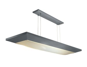 AFX Aeon® Cloud™ 4-3/8 in. 2-Light Suspended Linear with Cable Kit in Satin Aluminum AAEL232SAMVCK