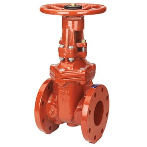 NIBCO 3 in. 300# Ductile Iron Flanged Outside Stem and Yoke Resilient Wedge Gate Valve NF607RWSLF