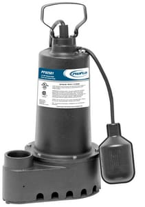 PROFLO® 10 ft. 1/2 hp Cast Iron Sump Pump Sided Discharge PF92501