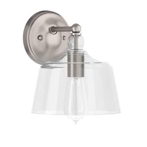 Park Harbor® Eastland 100W 9-1/8 in. 1-Light Medium E-26 Wall Sconce in Brushed Nickel PHWL3201BN