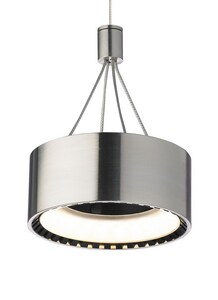 Tech Lighting Corum 4-4/5 in. Pendant in Satin Nickel T700FJCORSLED830